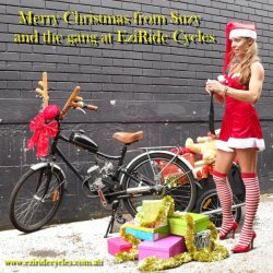 Merry Christmas from Suzy and the gang at Eziride Motorised Cycles Australia.