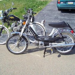 My 2005 Whizzer NE5 and 1978 Puch Free Spirit moped.