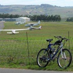 Stellenbosch airfield in background