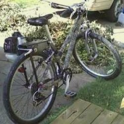 generic mountain bike with Dax Friction Drive and Tanaka 33