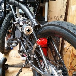 tail light attached to Chain tension arm