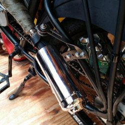 Muffler hanger with rubber flex joint!