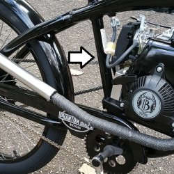 Battery Placement   Behind Seat Tube