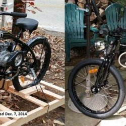 See videos and bike transformation at:  https://www.youtube.com/user/JimConHam/videos