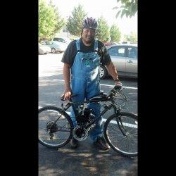 The Black Hornet Motorized Bike - YouTube