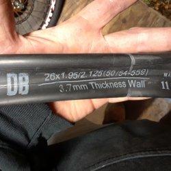 Diamond Back tube size