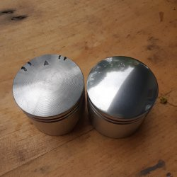 Polished piston vs stock