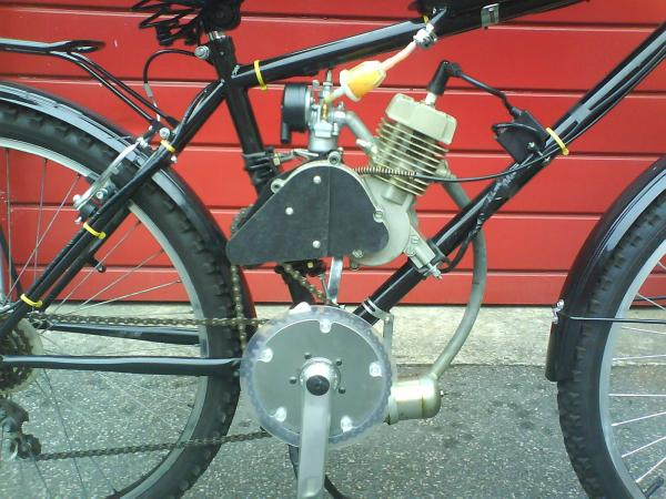2 Stroke bike with shifter kit right side
