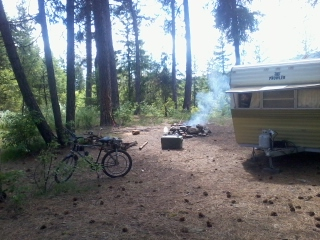 Beachcruzins bike camping in the national forrest <3 yesterday 6-11-12