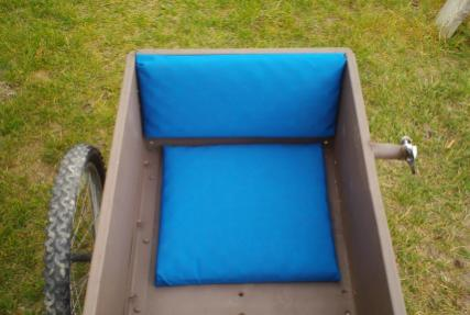 I made two cushions in case one got dirty I didn't have to pull the whole seat for cleaning.