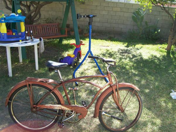 This I bought to replace my stolen bike.  1948 Schwinn Streamliner
