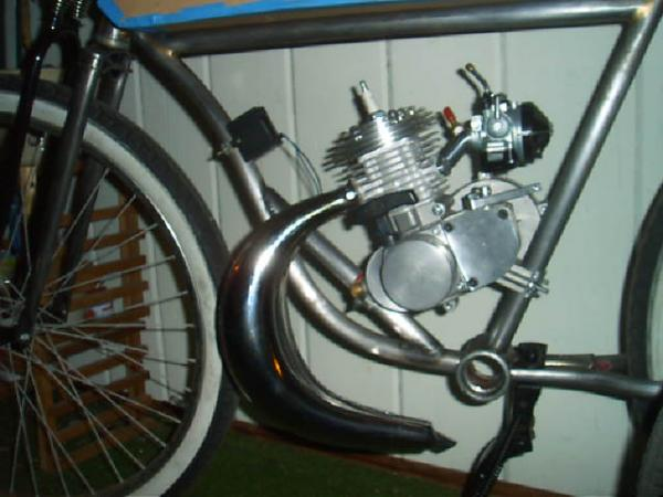 Took the spookytooth chamber off of my other bike.  Added pull start and Dellorto carb